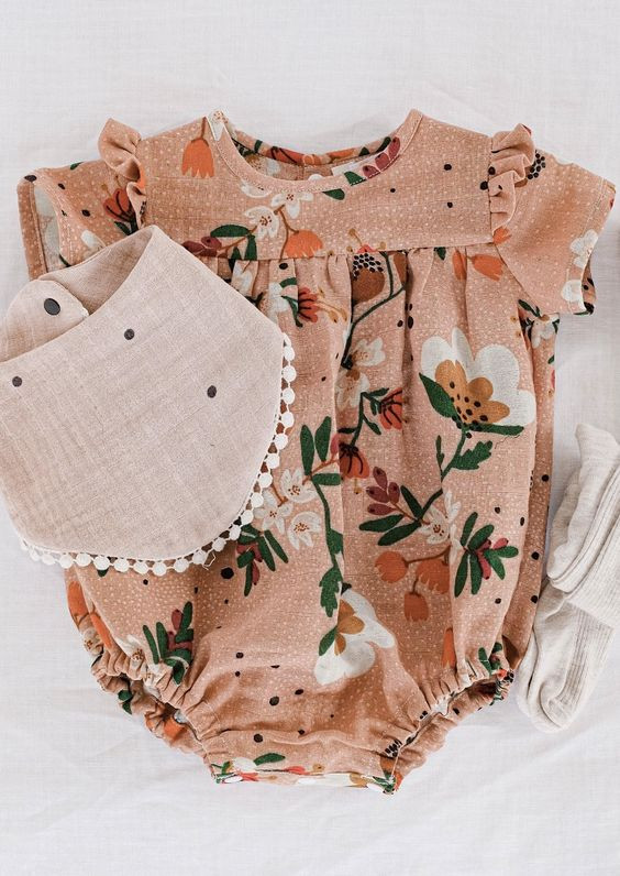 Easy Beginner Sewing Patterns Baby Romper Baby Bloomer Baby Dress