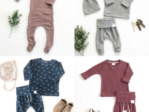 Snuggle your baby in yummy handmade baby clothes from 2sweetcheeks