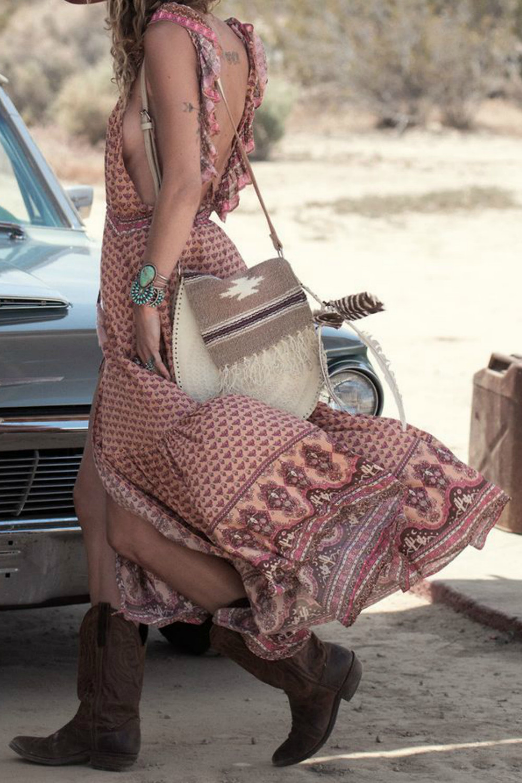 boho summer maxi dress