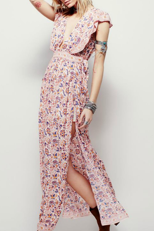 Boho printed maxi dress