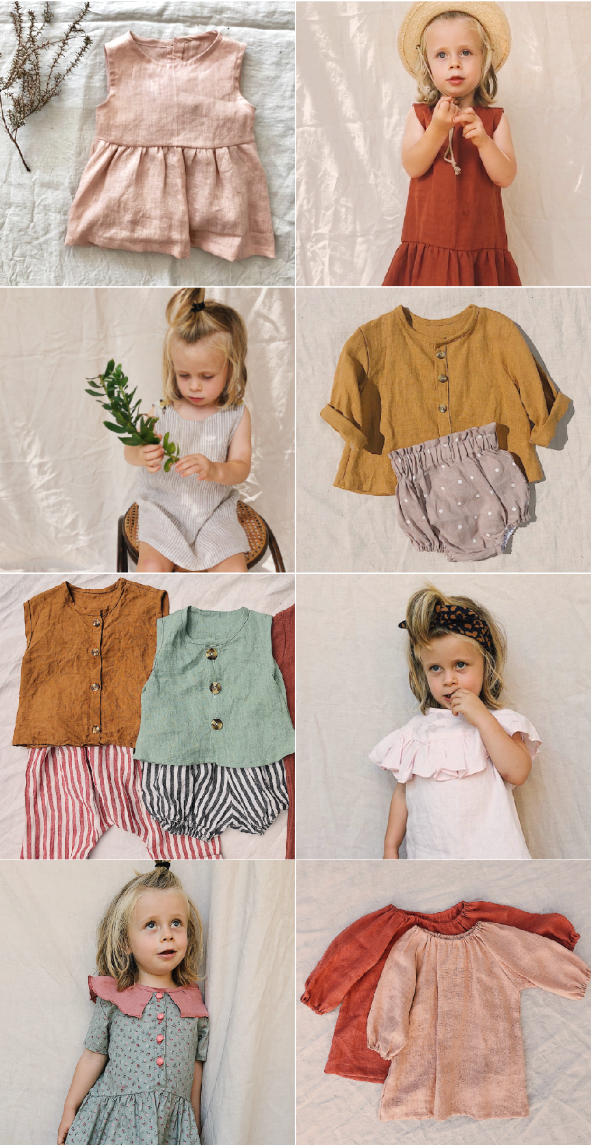 Easy Sewing with Tiny Design Co Babies & Kids' Patterns