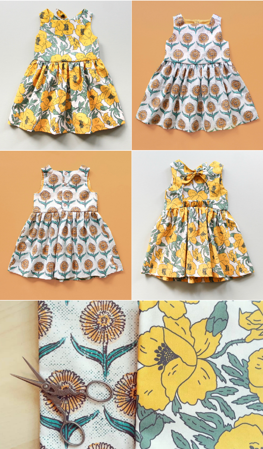 Easy baby dress patterns, easy baby romper patterns, easy baby and kids sewing patterns