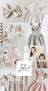 Talia & Co beautiful handmade linen babies and kids clothing