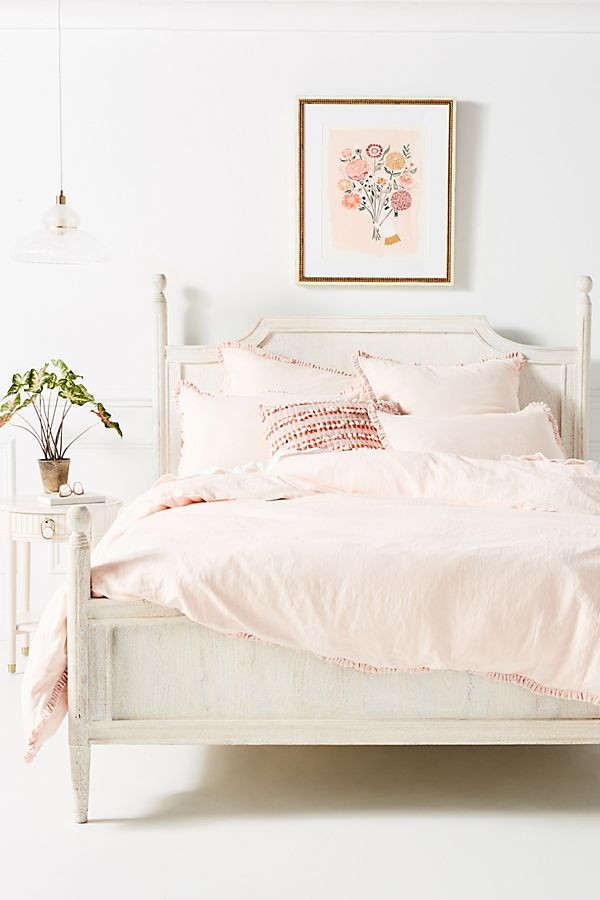 Linen Salvage et Cie Velvet Ruffle Duvet Cover | Anthropologie