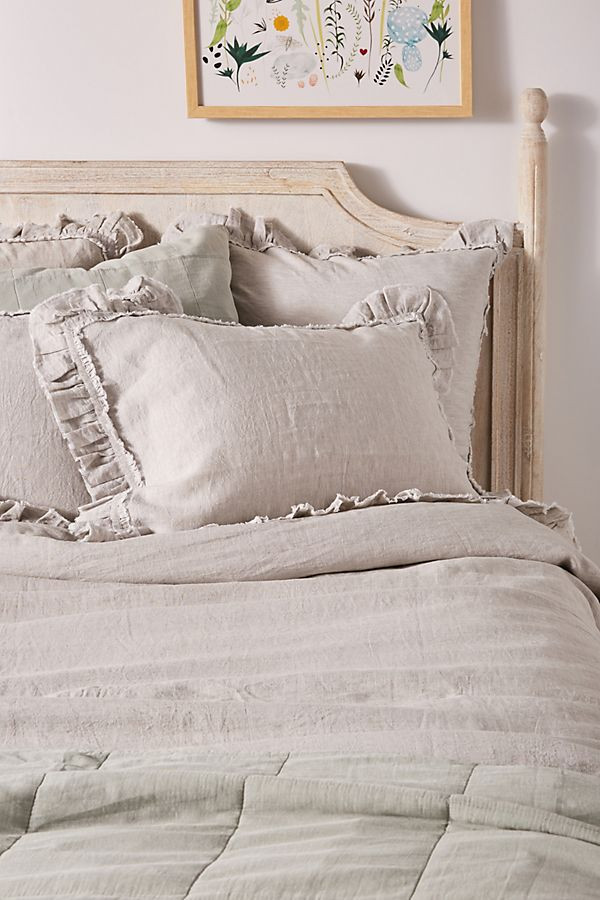 Pom Pom At Home Mathilde Linen Duvet Cover | Anthropologie