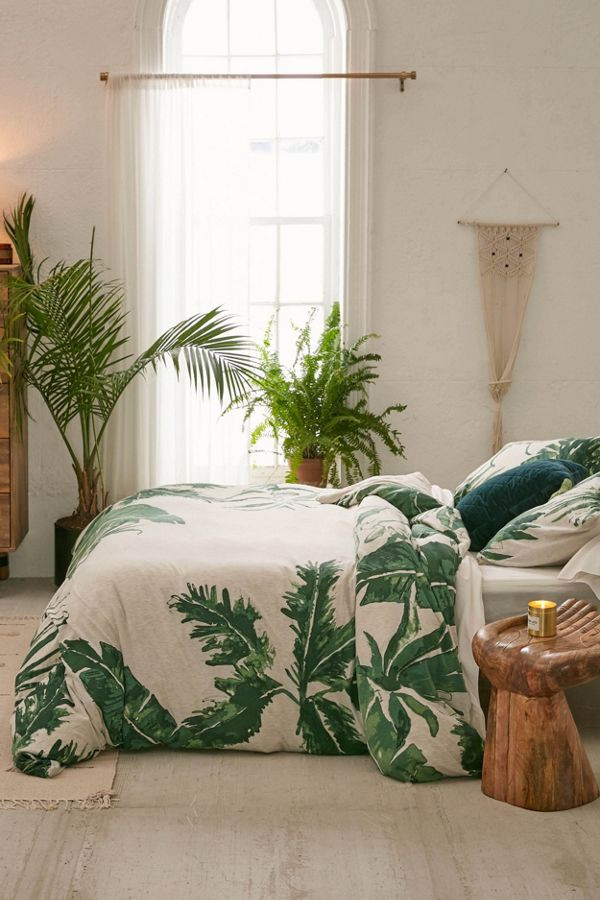 Expressive Palms Jersey Duvet Cover   Urban Outfitters