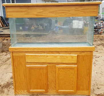 125 Gallon aquarium, stand and canopy