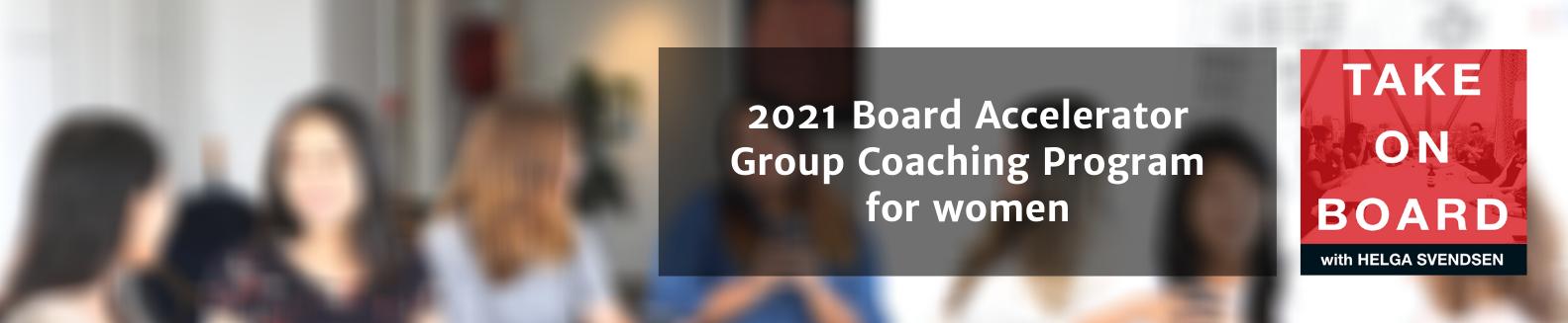 Board Accelerator 2021