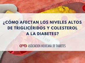 ¿Cómo afectan los niveles altos  de triglicéridos y colesterol a la diabetes?