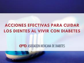 Acciones efectivas para cuidar los dientes al vivir con diabetes