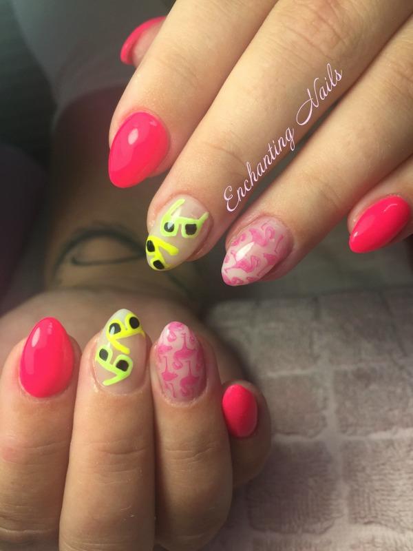 stempel - flamingo - handpainted