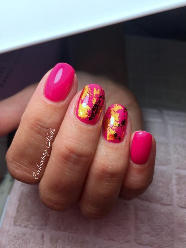 roze - goud folie