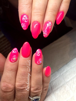 roze - handpainted - rozen