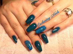 blauw - glitter