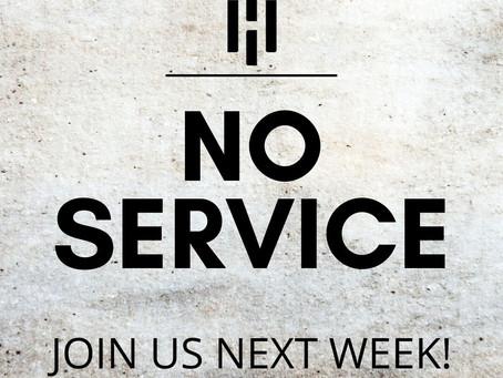 Geen eredienst op zondag 11 juli!