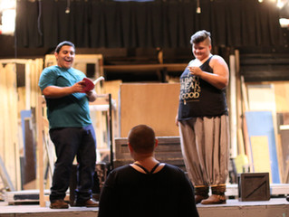 "In rehearsal for ""Rosencrantz""-tomfoolery, dynamism, and a lot of great wordplay"