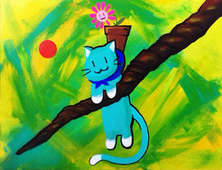 Dangle Cat and Flower