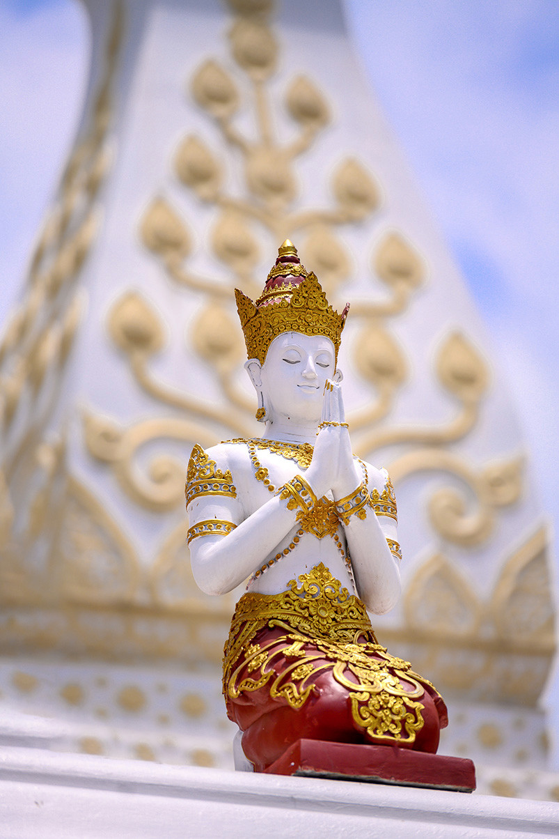 "Thailand Chiang Mai Temple ""Wat Ban Den"" statue"