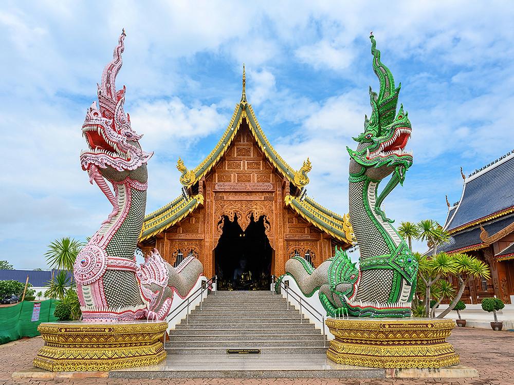 Wat Ban Den, temple, buddhist, Chiang Mai 2019