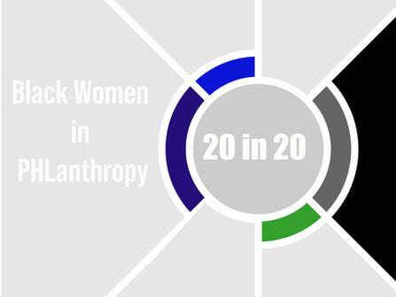 """20 in 20"" Black Philanthropy Month 2020"