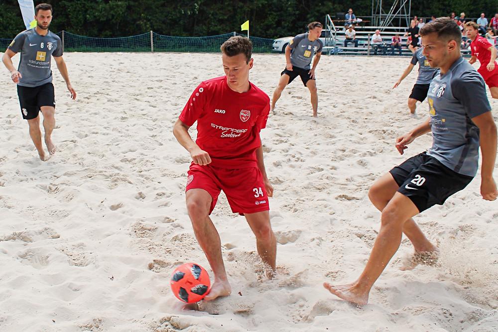 Dominik Kraus, der Top-Scorer der Beach Boyz, möchte auch in Ibbenbüren sein Team mit Toren zum Erfolg führen.