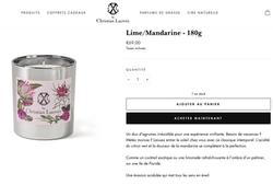 Descriptions for Christian Lacroix candles