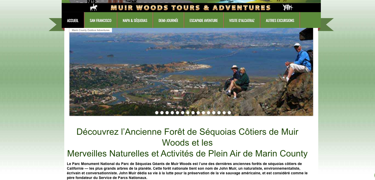 Translations English-French for Muir Woods Tours