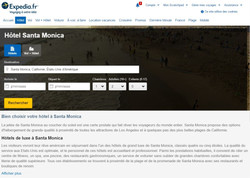 Web content for Expedia