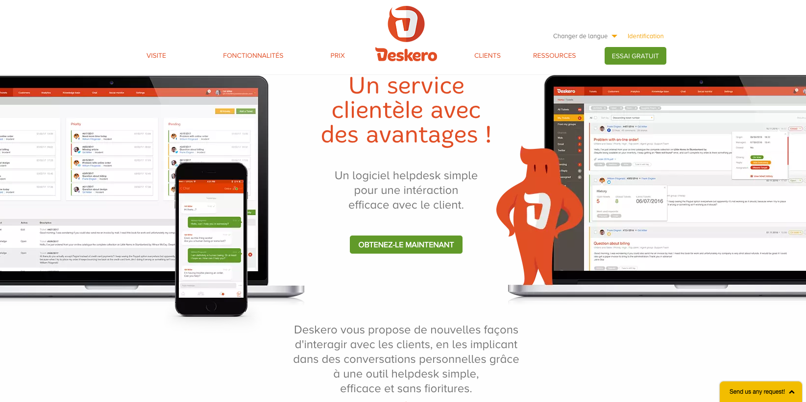 Translations English-French-Spanish for Deskero