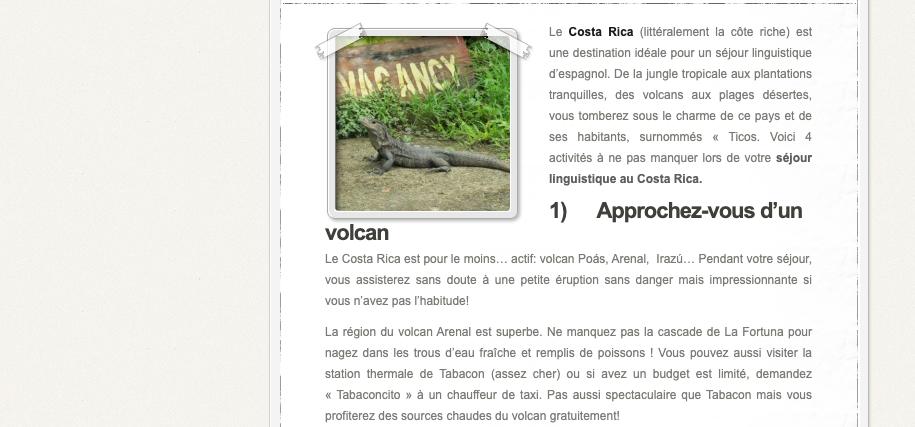 Article for Blog des VOYAGEURS