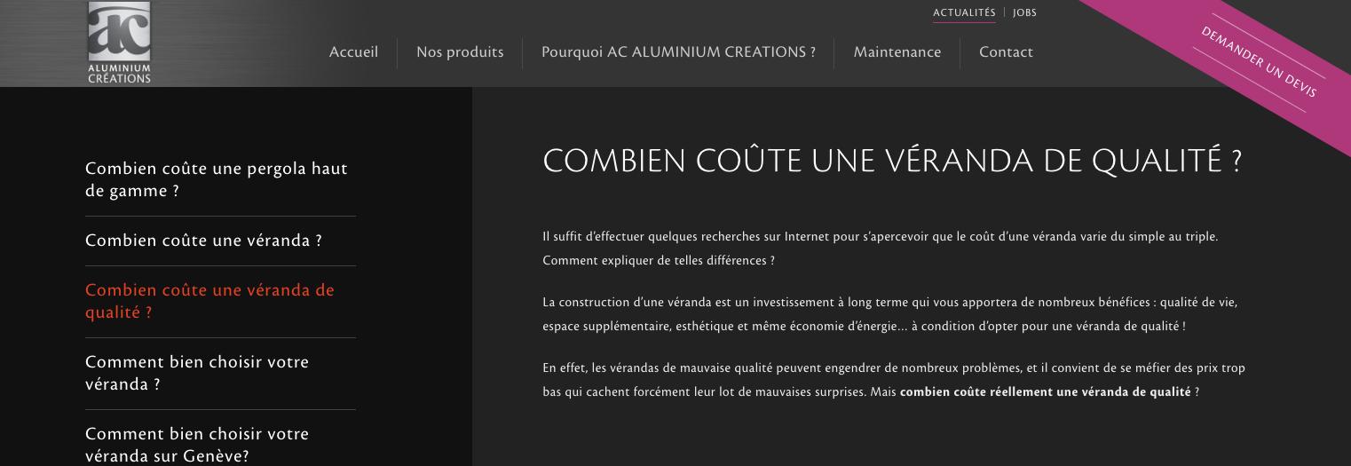 Articles for Aluminium Créations