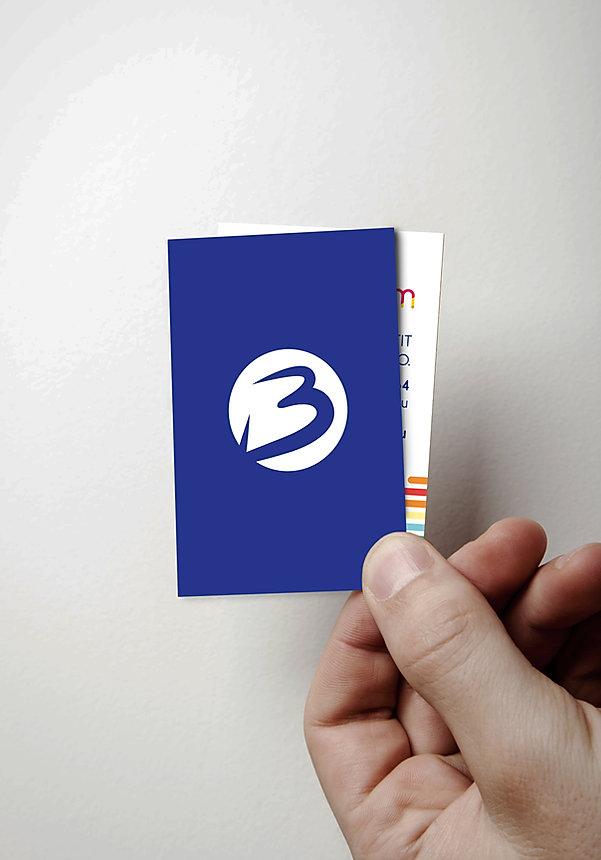 carte de visite logotype b-novacom