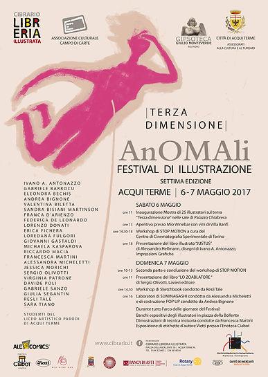 Locandina Festival Anomali 2016