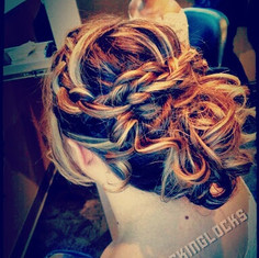 Messy Updos, Braided and Twist