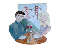 Newlyweds in San Francisco