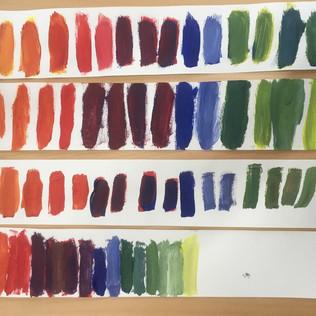 Kleuren mengen met groep 4