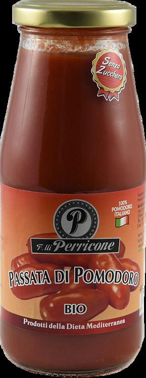 """Passata di pomodoro biologico """"senza zucchero e sale"""" 446 g - F.lli Perricone"""