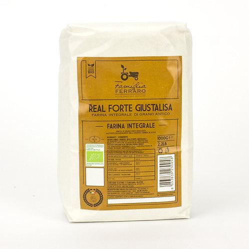 Farina integrale bio grano duro Sicilia (giustalisa) - 1 kg - Ferraro