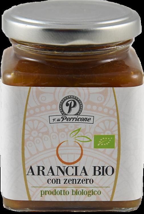 Marmellata di arancia con zenzero biologica 220 g - F.lli Perricone