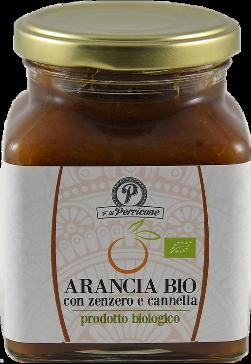 Marmellata di arancia con zenzero e cannella biologica 320 g - F.lli Perricone