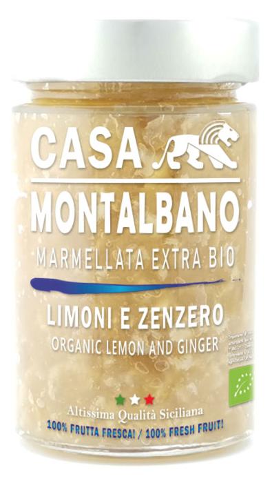 Marmellata Extra di Limoni e Zenzero BIO – 200g - Casa Montalbano
