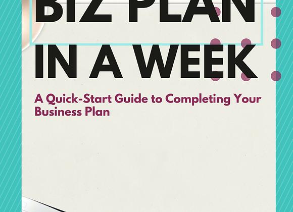 Biz Plan in A Week Guide