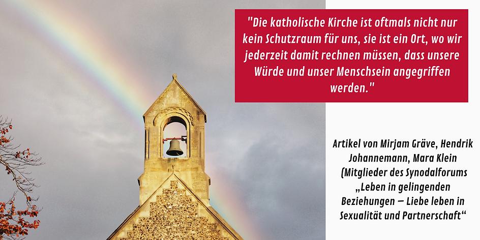 Die katholische Kirche ist oftmals nicht nur kein Schutzraum für uns, sie ist ein Ort, wo