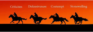 The 4 Horsemen of the Relationship Apocalypse and their