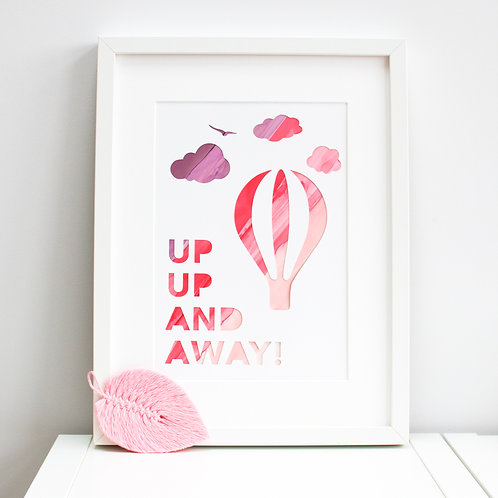 'Up Up and Away' Print