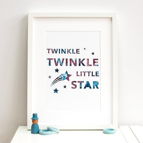 'Twinkle Twinkle Little Star' Print
