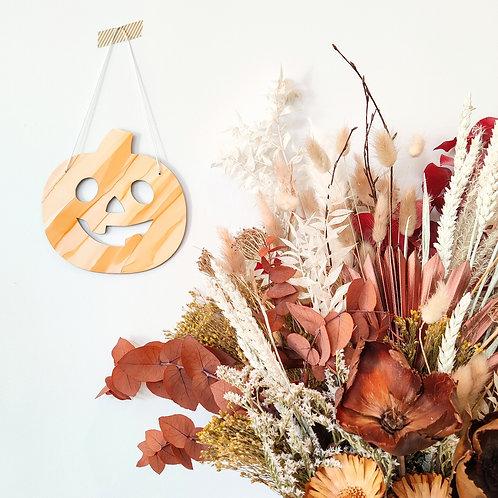 Pumpkin hanging decor