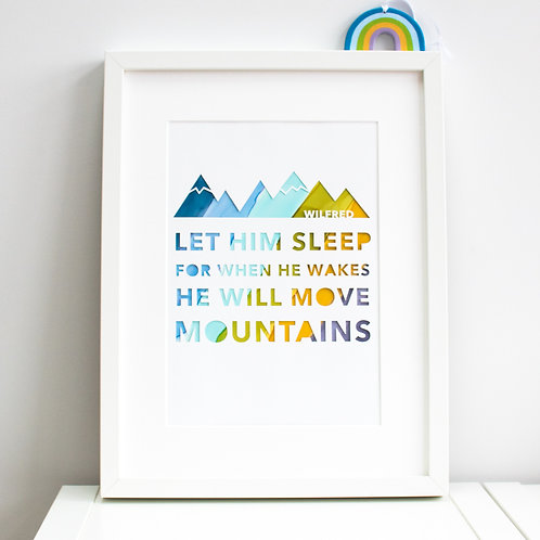 Personalised 'Let Him/Her Sleep' Print