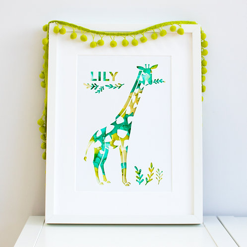 Personalised Giraffe Print