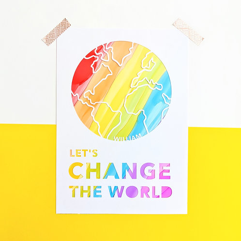 Personalised 'Let's Change the World'